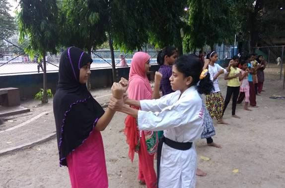 Humaira learned self defence and karate from Empowering Girls of India